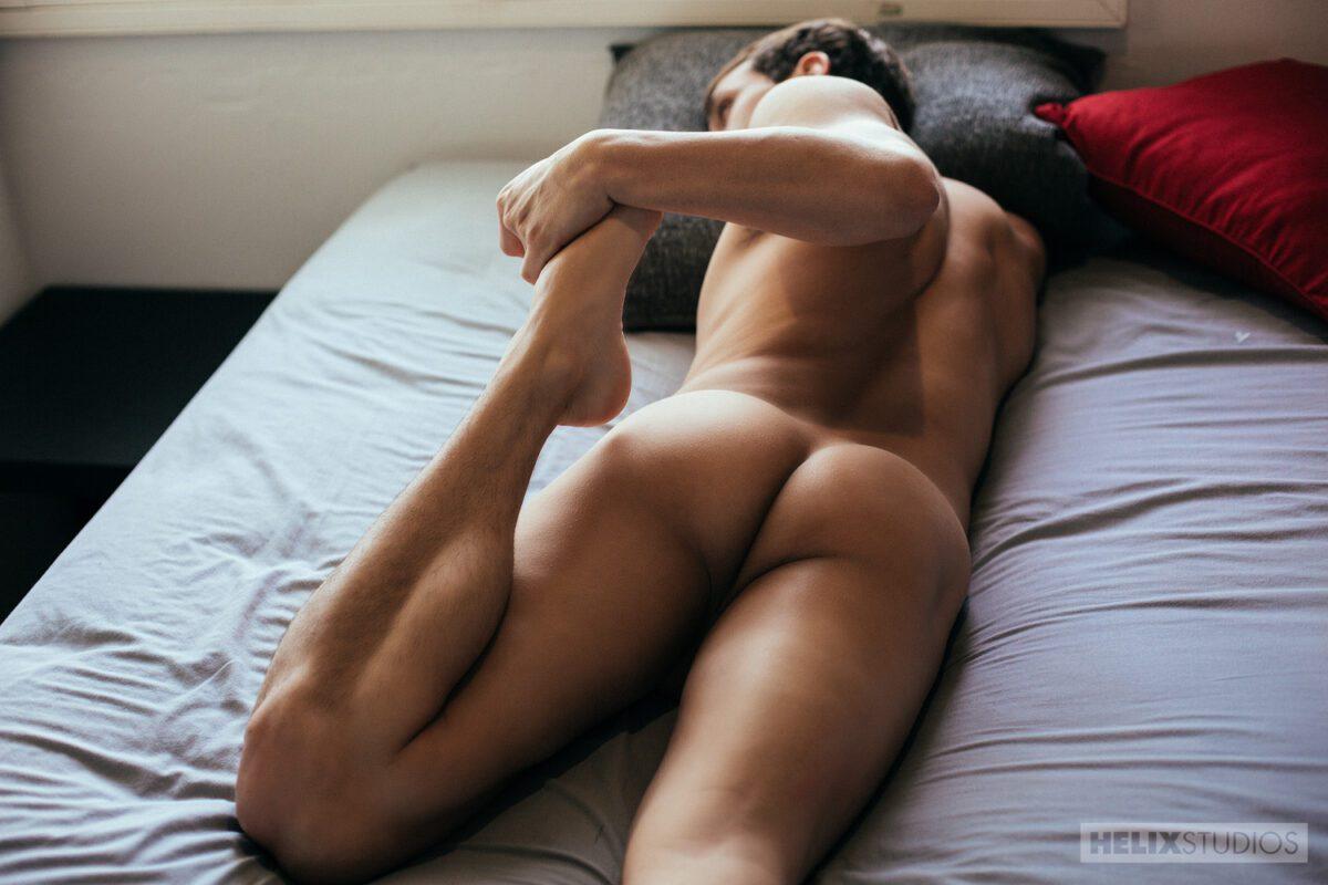 guy sleeping naked butt