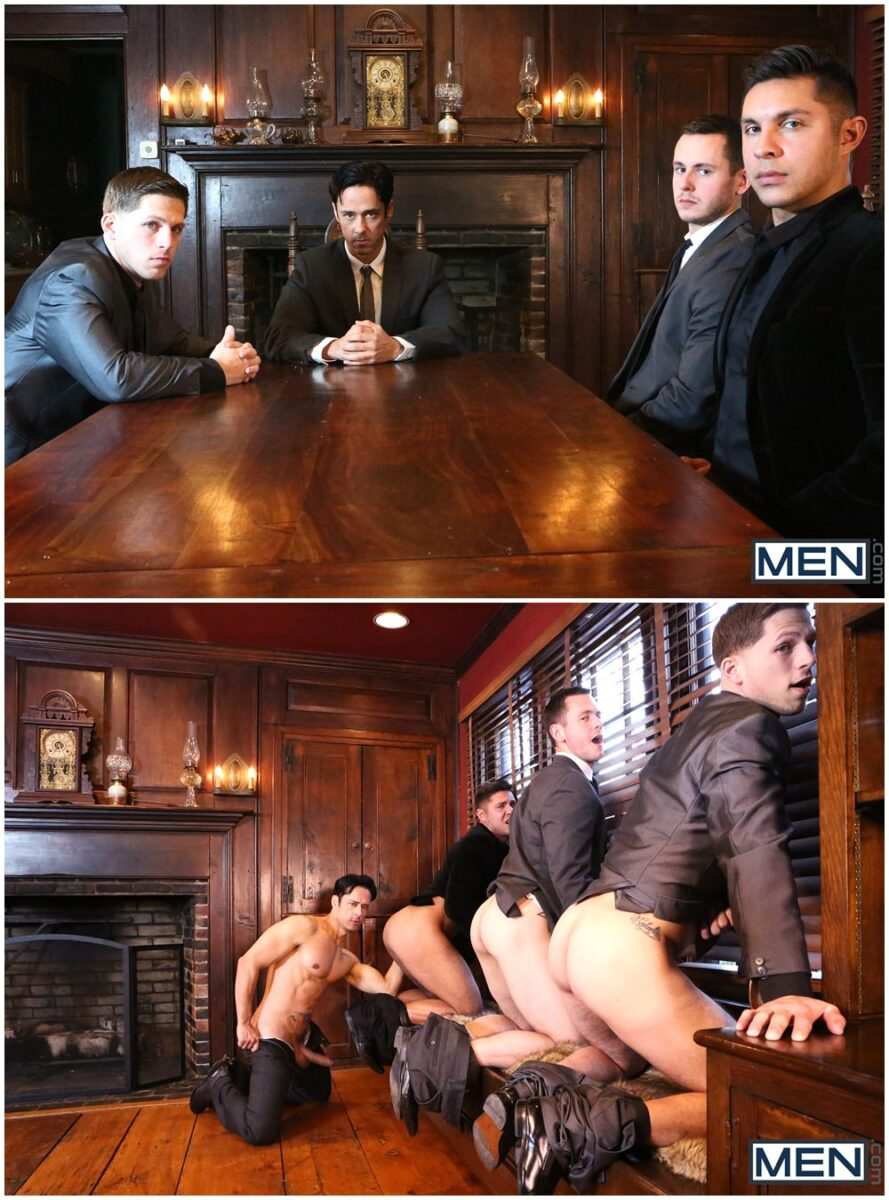 MEN Godfather part 4 XXX fourway group orgy fuck muscle studs (1)