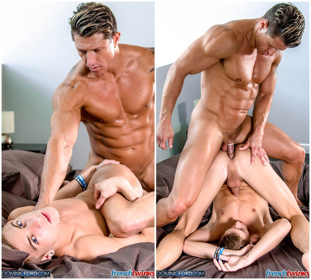 Muscled Gay Hunk Gets Massaged