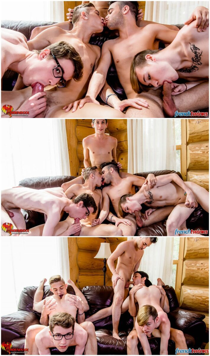 French and Canadian twinks orgy group fucking gay porn xxx (3)