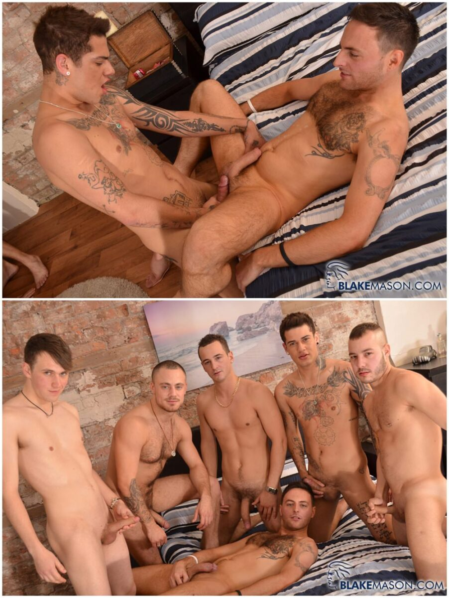 Gay orgy the scene embarks off with skylar 7