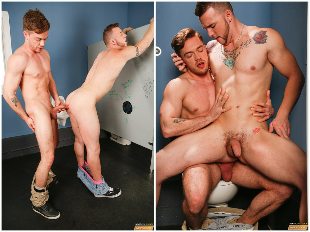 Lucas Knight & Chris Noxx glory hole sex hung jocks fuck Next Door Buddies gay porn xxx (4)