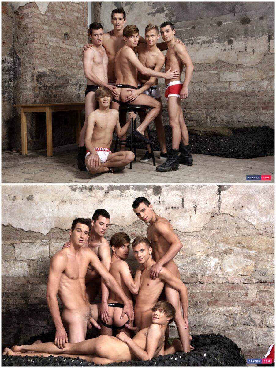 Staxus bareback twink orgy Noah Matous Ray Mannix Nick Vargas group raw sex gay porn xxx (2)