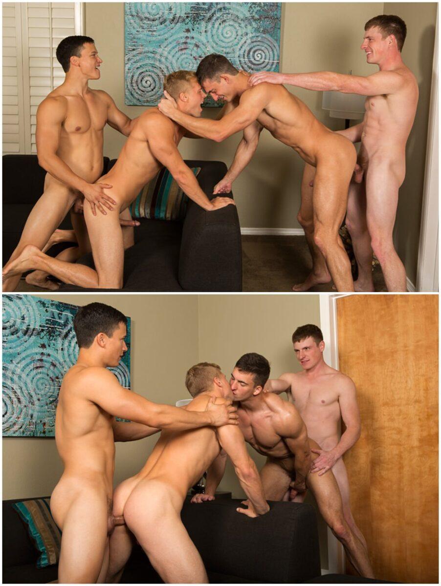 muscle jocks bareback fourway group sex raw anal breed cum SeanCody.com gay porn xxx (4)