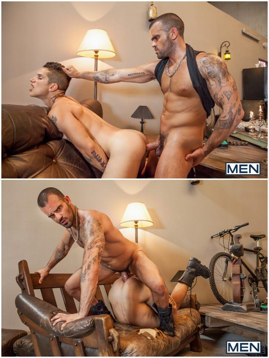 Damien Crosse fucks Pierre Fitch inked muscle studs tattoos anal sex Men.com gay porn xxx (6)