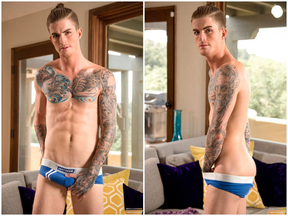 Next Door World Markie More & Alec Lad casting couch inked muscle jocks gay porn xxx (1)