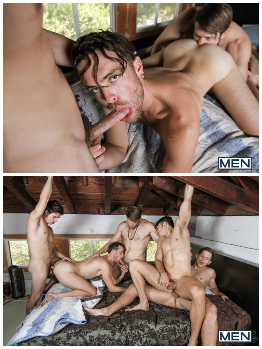 Five stud epic fuck fest orgy MEN Will Braun Roman Todd group sex gay porn xxx3