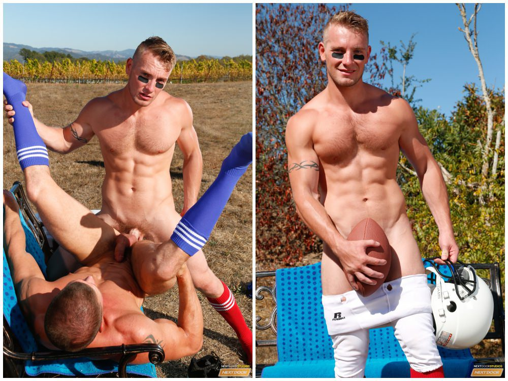 image Terrys threesome with football players