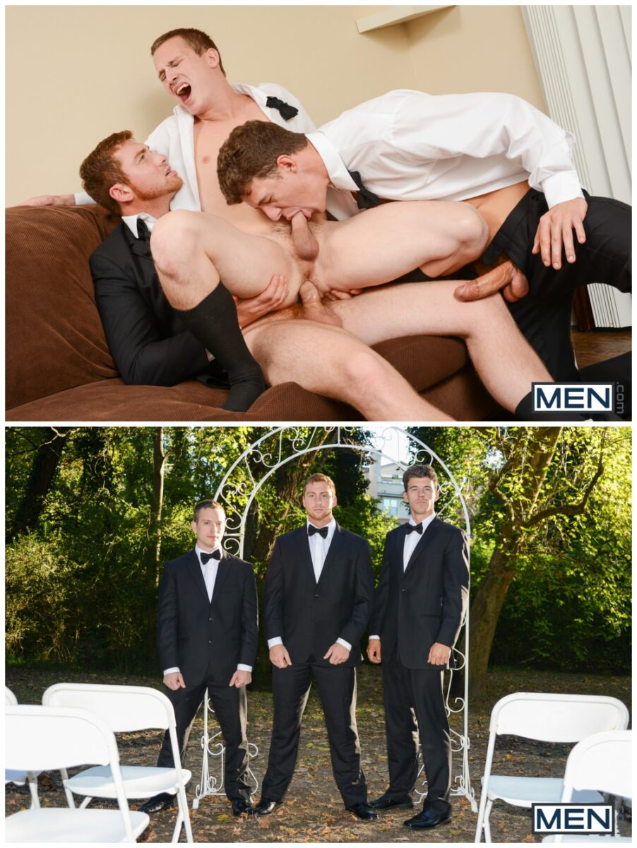 Connor Maguire, Tommy Regan and JJ Knight threesome fuck jocks anal sex MEn gay porn xxx6