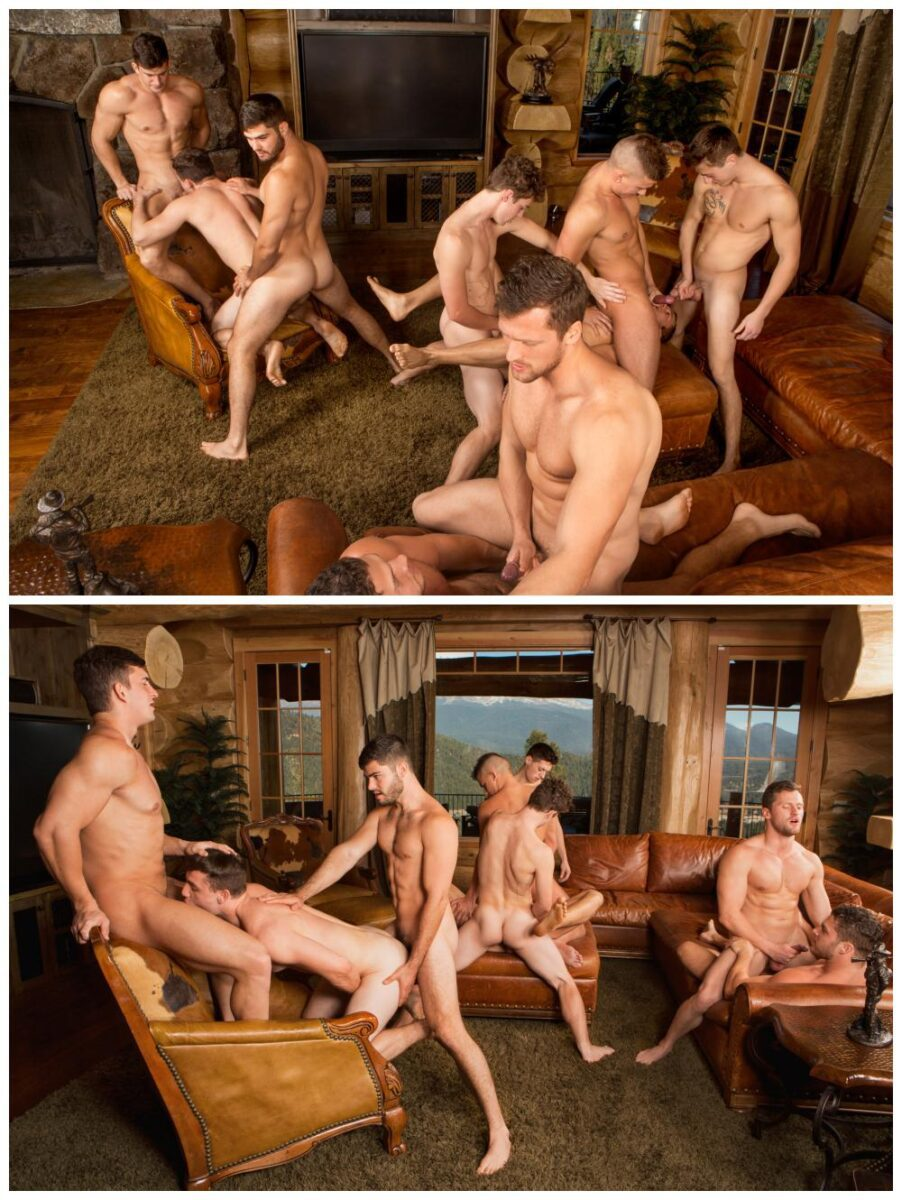 Gay muscle orgy spanking and straight 4