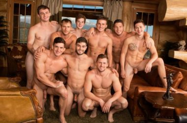 Nine Jock Bareback Orgy!