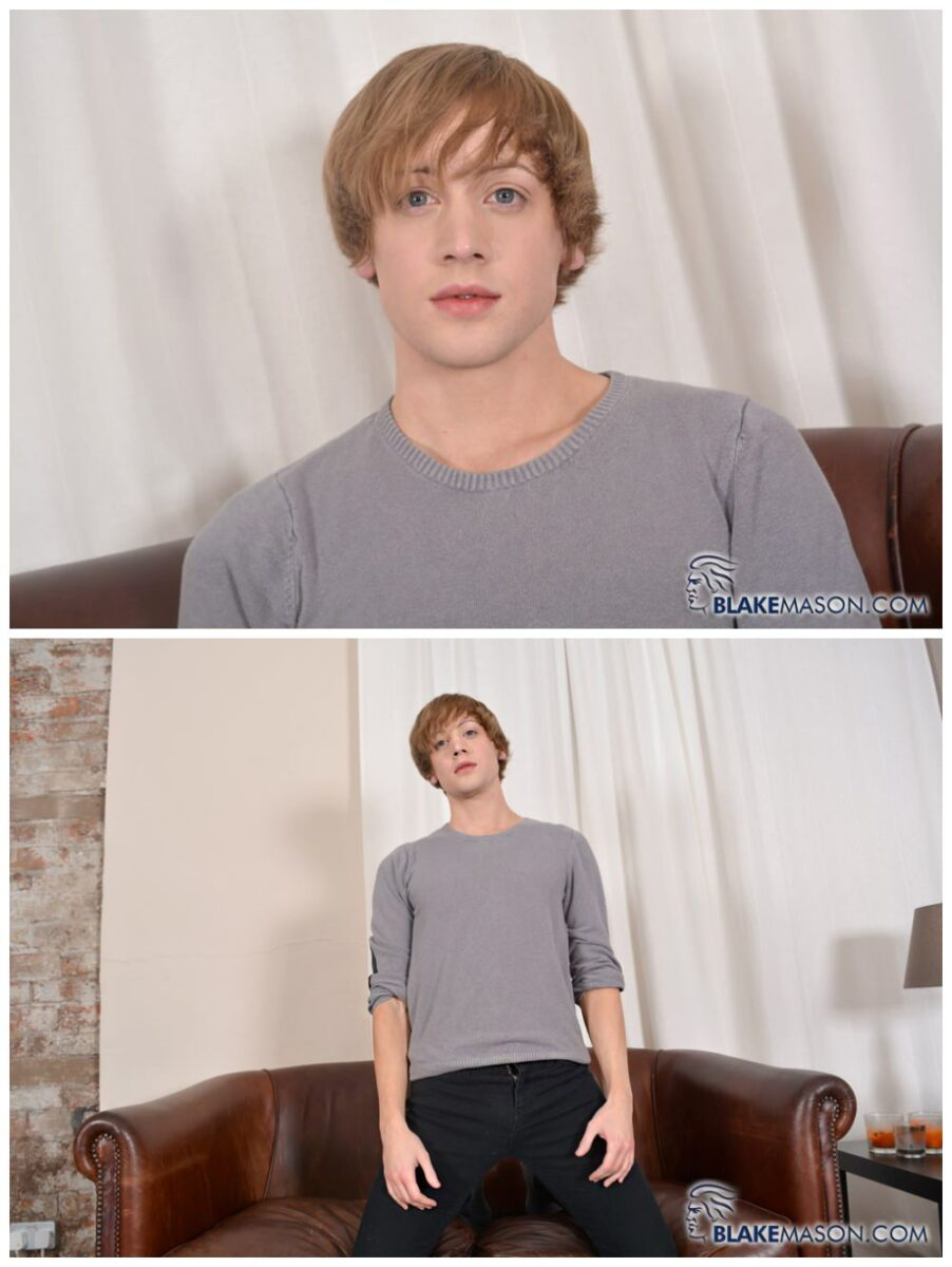 Cute & innocent sexy young twink Johannes Lars jerks off solo gay porn scene big uncut cock cums xxx1