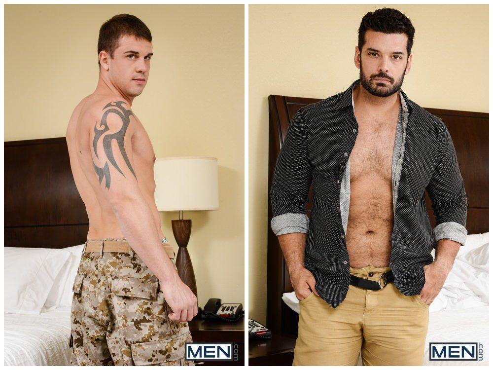 Darin Silvers fucks Marcus Ruhl, hairy tattooed muscle studs, gay porn anal sex, hotel room fucking army soldier uniform, big dick sucking xxx1