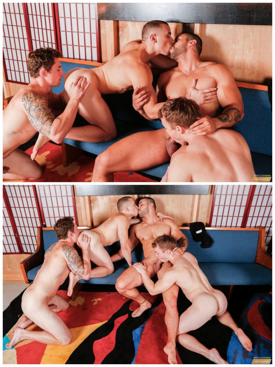 Assfucking Hunks Facializing Studs In Orgy