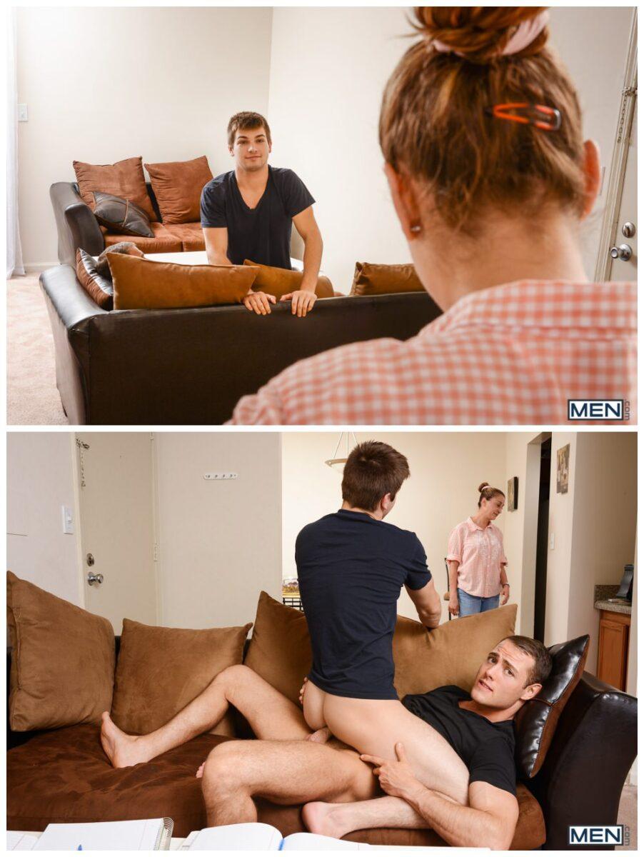 Johnny Rapid & Brendan Phillips sneaky sofa sex flip flop fucking gay porn xxx4