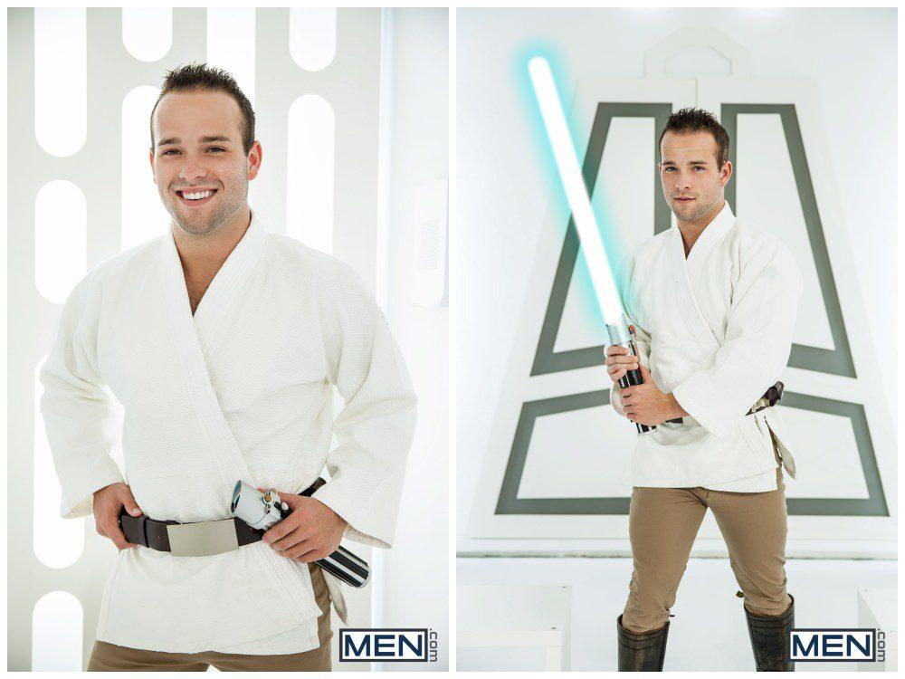 Luke Adams Stormtrooper ganbang group orgy gay anal sex MEN fucking Star Wars parody xxx1