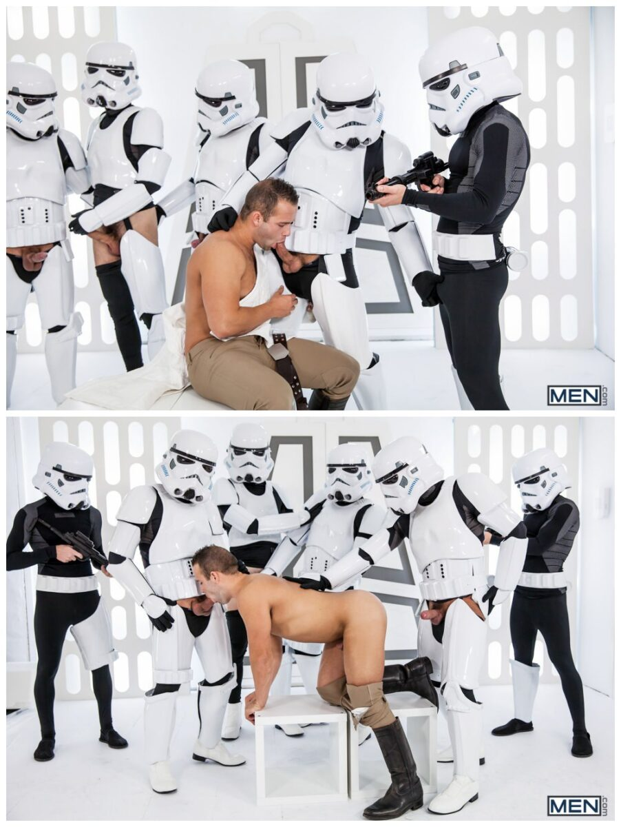 Luke Adams Stormtrooper ganbang group orgy gay anal sex MEN fucking Star Wars parody xxx11