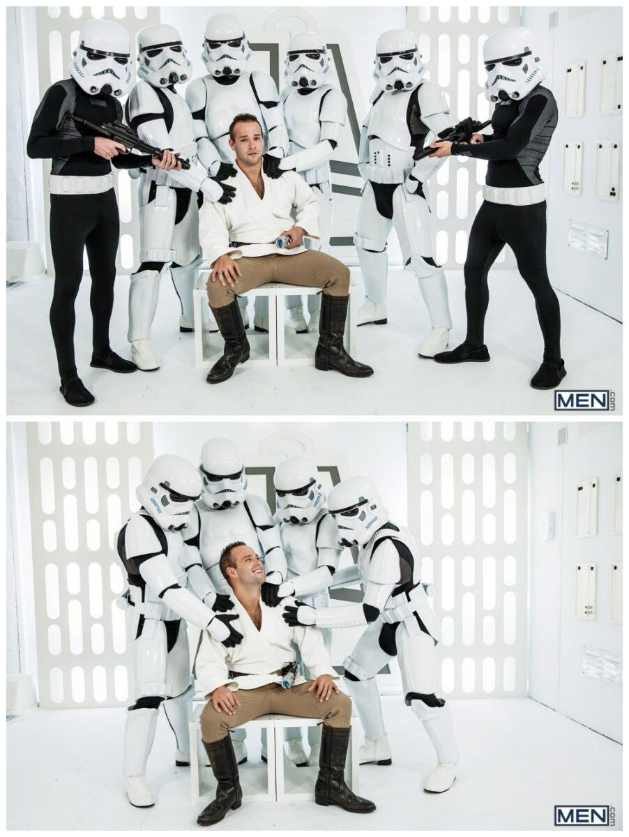 Luke Adams Stormtrooper ganbang group orgy gay anal sex MEN fucking Star Wars parody xxx4