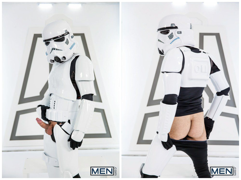 Luke Adams Stormtrooper ganbang group orgy gay anal sex MEN fucking Star Wars parody xxx5