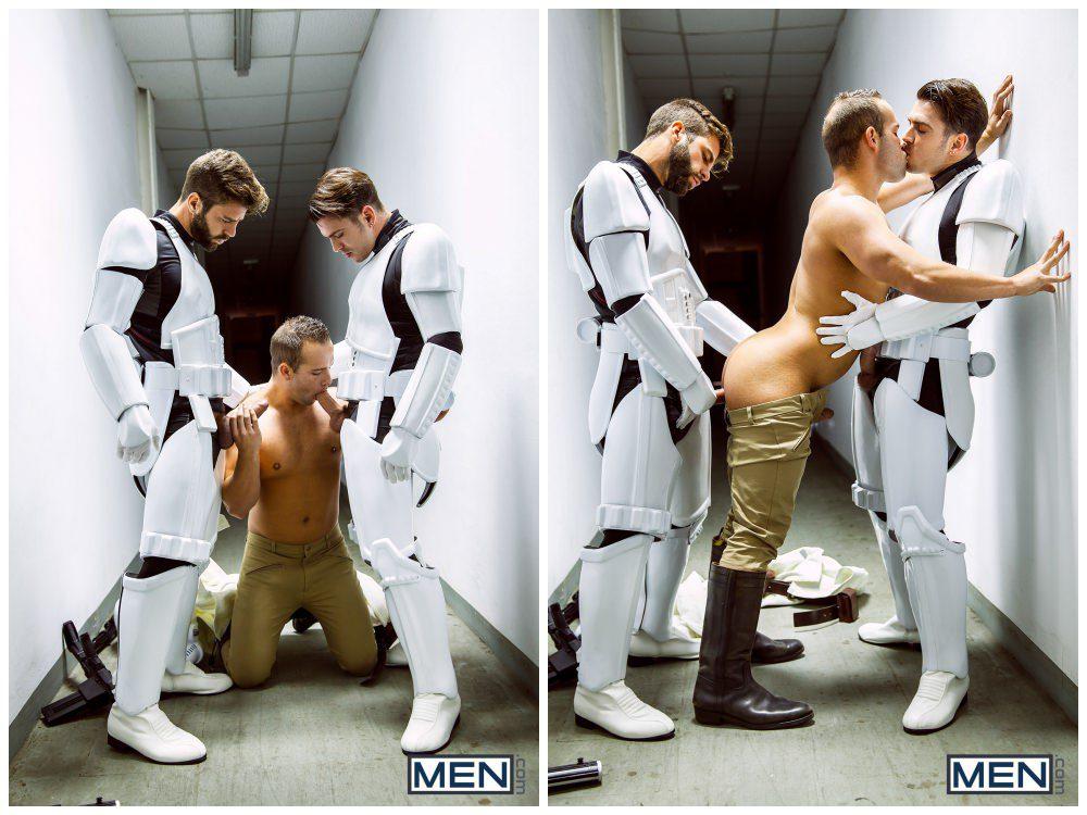 Luke Adams Stormtrooper ganbang group orgy gay anal sex MEN fucking Star Wars parody xxx7