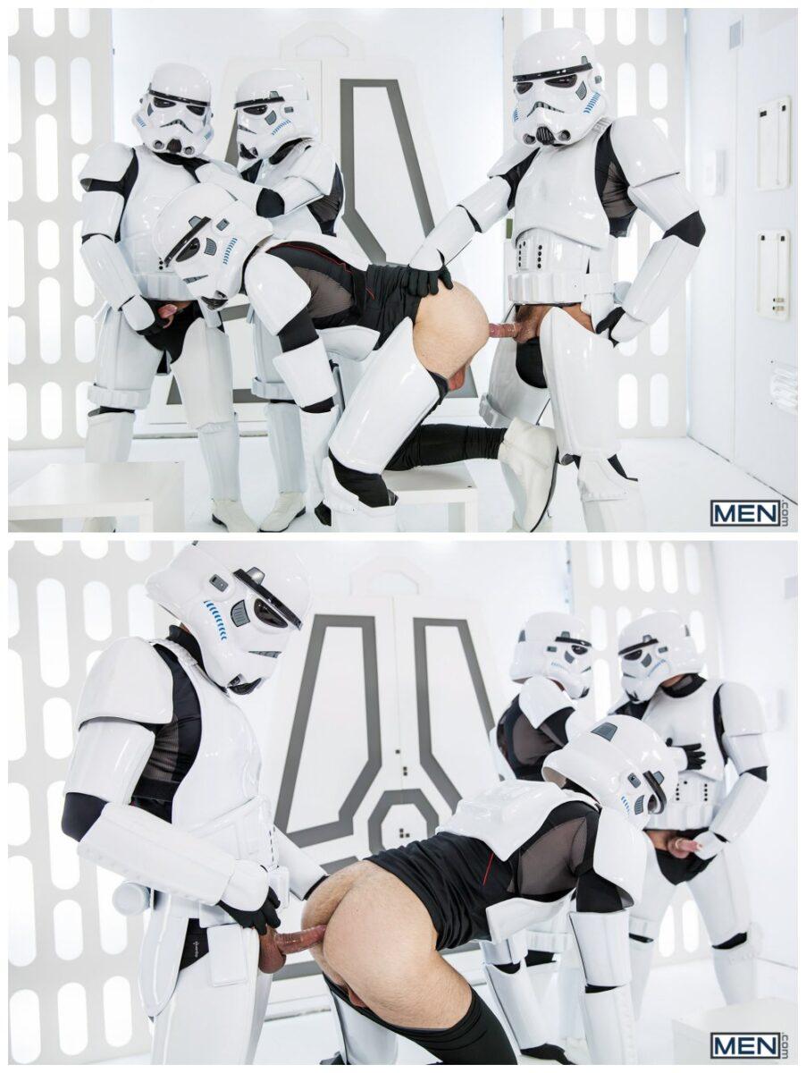 Luke Adams Stormtrooper ganbang group orgy gay anal sex MEN fucking Star Wars parody xxx9