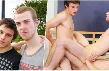 Straight Boys Bareback Threesome
