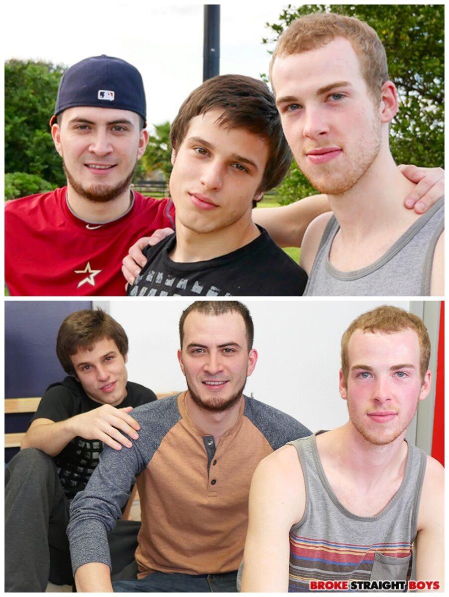 Broke straight boys threesome