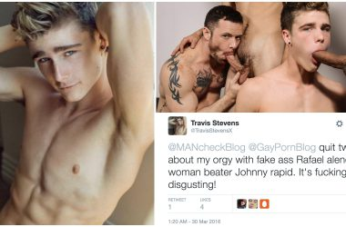 Twink Pornstar Travis Stevens Goes On Twitter Rant About Gay Studios
