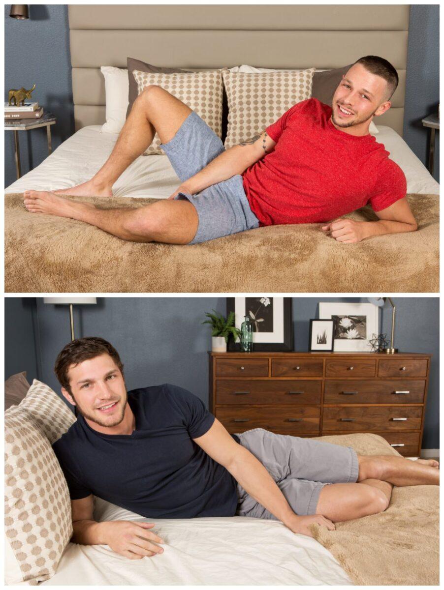 Brandon fucks Duncan bareback, muscle jocks sexy studs fucking raw, anal sex creampie cum fuck breed, inked men, Sean Cody xxx anal sex gay porn free pics. 2