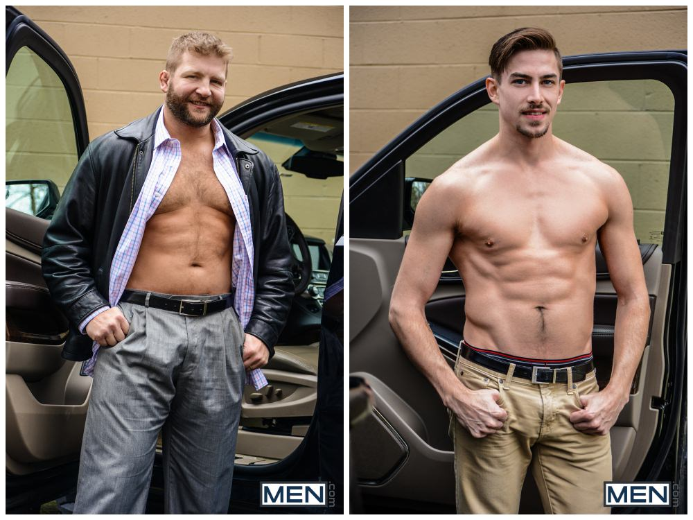 Colby Jansen Fucks Jack Hunter, sex in cars, back seat butt fucking studs, hairy hunk MEN.com xxx free gay porn video pics.2