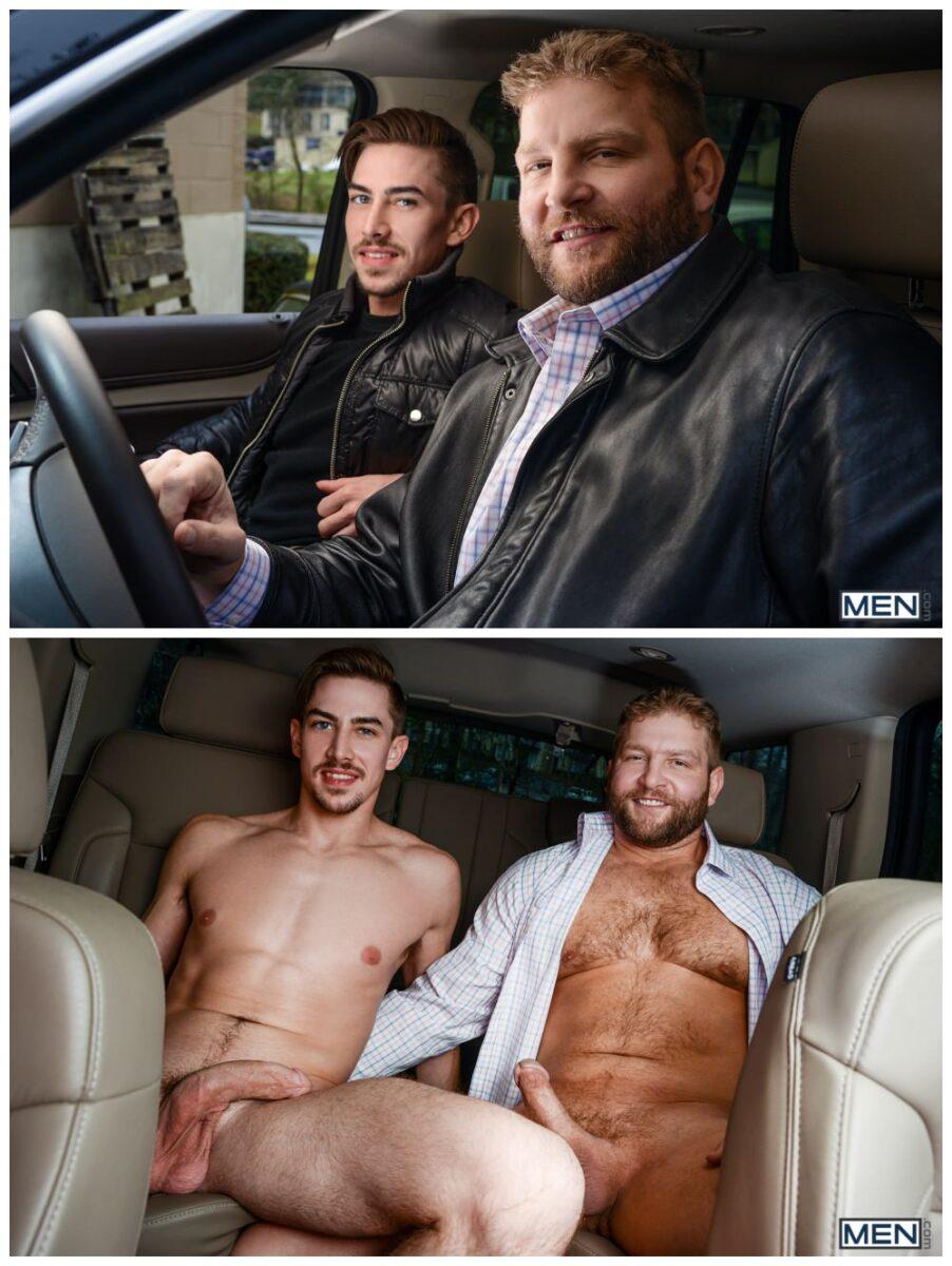 Colby Jansen Fucks Jack Hunter, sex in cars, back seat butt fucking studs, hairy hunk MEN.com xxx free gay porn video pics.3