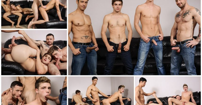 Gay Group Sex: Johnny Rapid & Travis Stevens Take A Pounding!