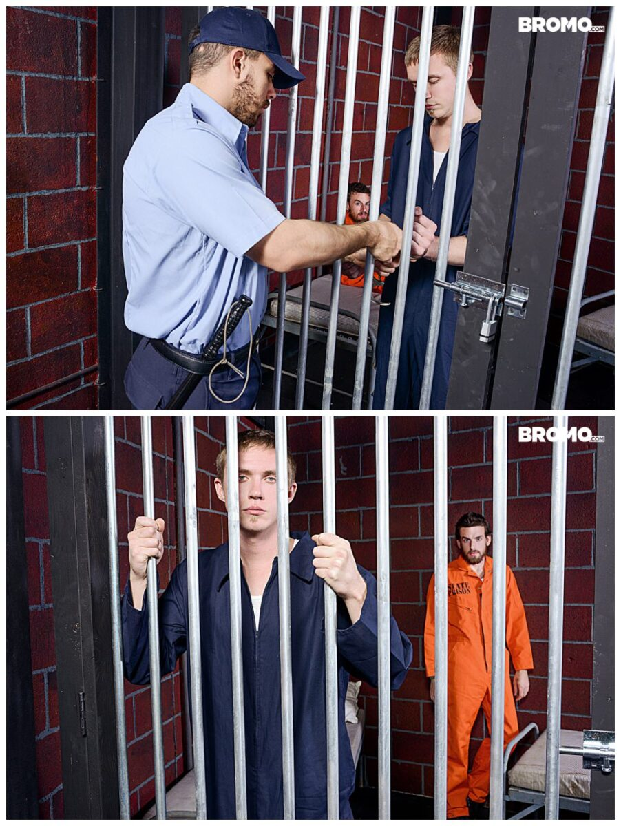 Bareback in Prison Zane Anders fucks inked stud Rocko South, Bromo xxx free gay porn, raw anal sex free video and pics.2