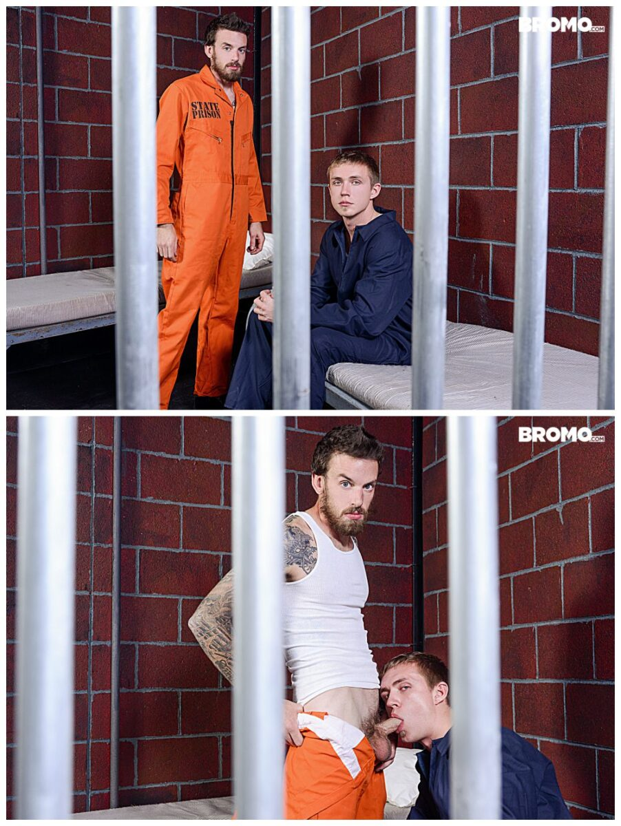 Bareback in Prison Zane Anders fucks inked stud Rocko South, Bromo xxx free gay porn, raw anal sex free video and pics.3