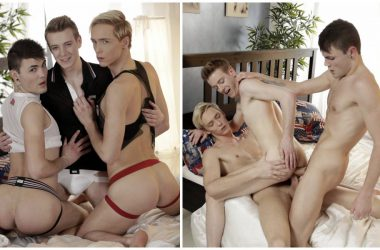 Euro-Twink Raw Double Penetration Threesome