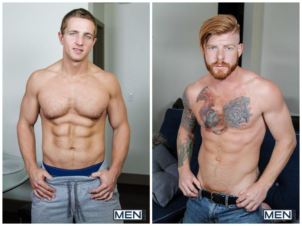 Stealth Fuckers Part 11, Ginger inked hunk Bennett Anthony xxx fucks muscle stud Landon Mycles xxx, sneaky sex MEN free gay porn scene video pics.2