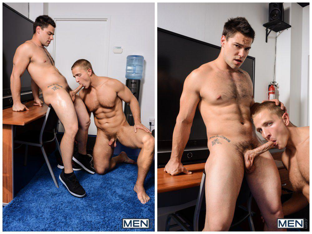 Aspen pounds Landon Mycles, hot muscle studs fuck, Men.com xxx free gay porn video and pics anal sex.5