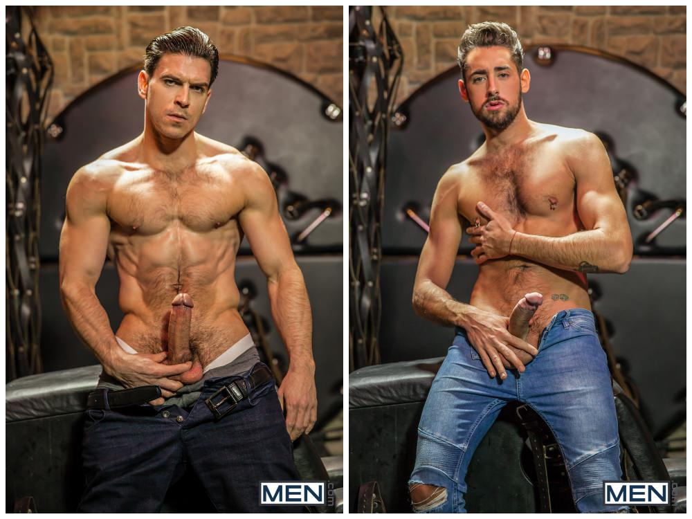 Horny hunks fucking, MAssimo Piano and Paddy O'Brian, sexy muscly studs anal sex, MEN.com xxx free gay porn.2