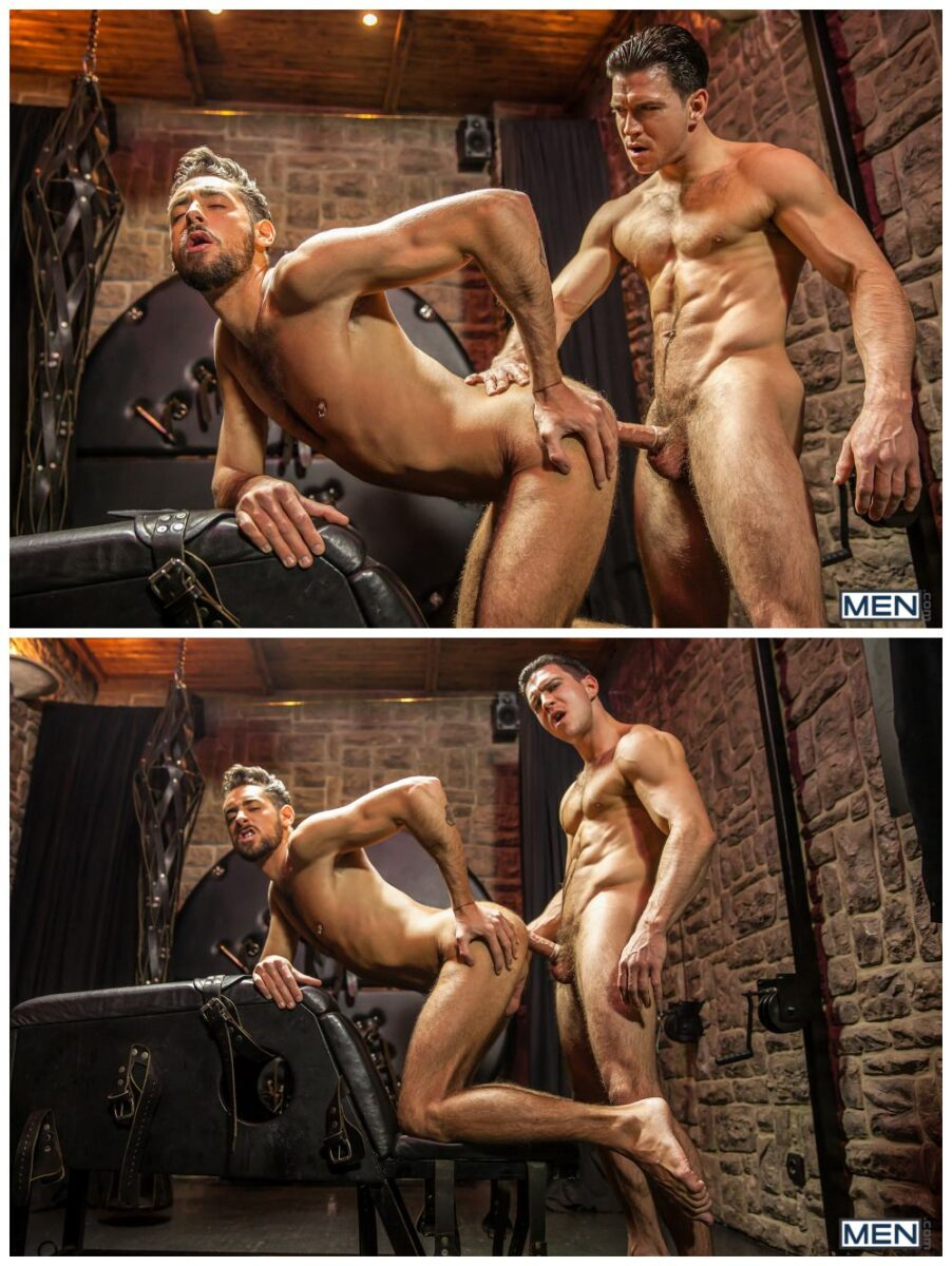 Horny hunks fucking, MAssimo Piano and Paddy O'Brian, sexy muscly studs anal sex, MEN.com xxx free gay porn.5