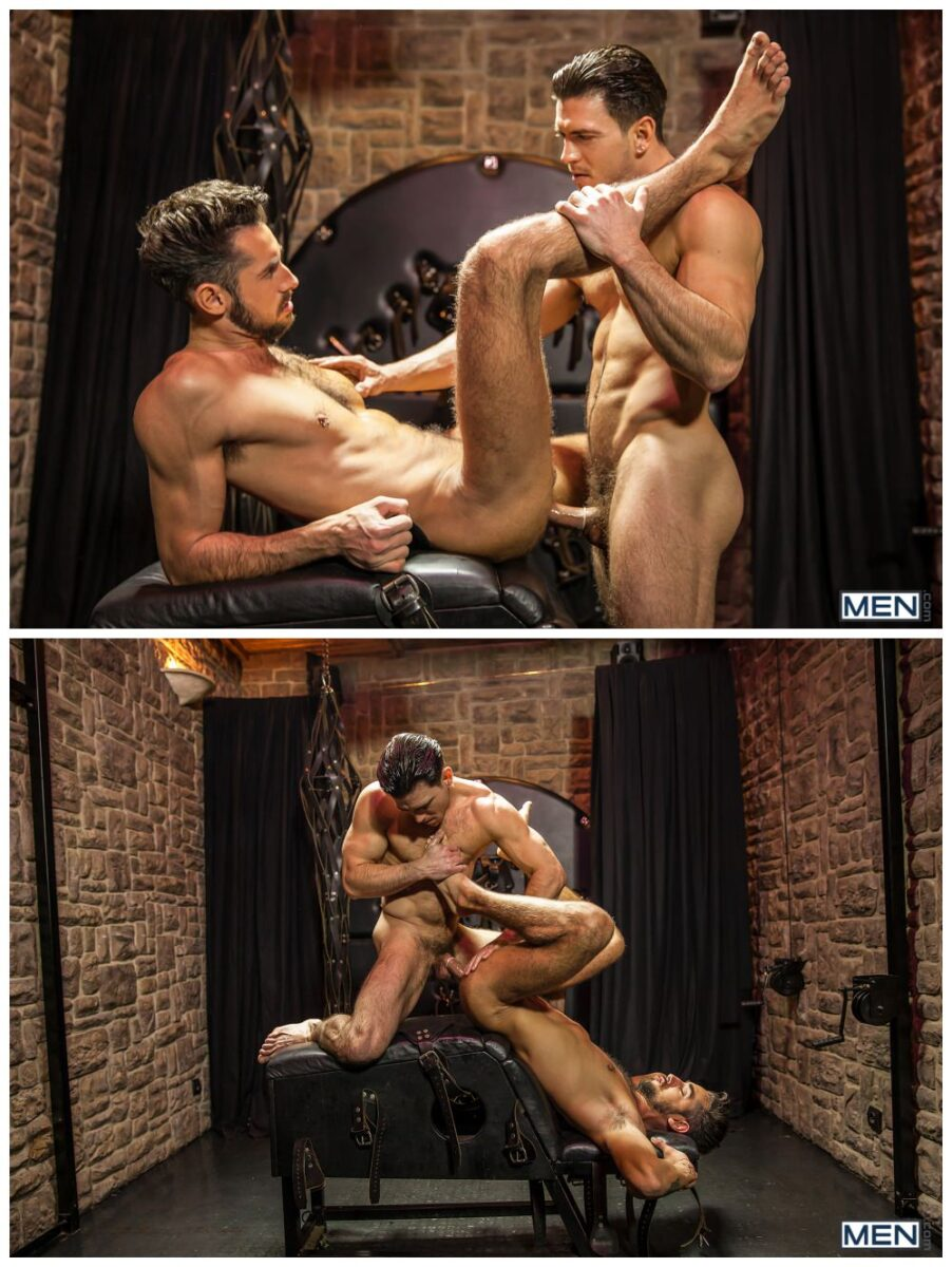 Horny hunks fucking, MAssimo Piano and Paddy O'Brian, sexy muscly studs anal sex, MEN.com xxx free gay porn.6