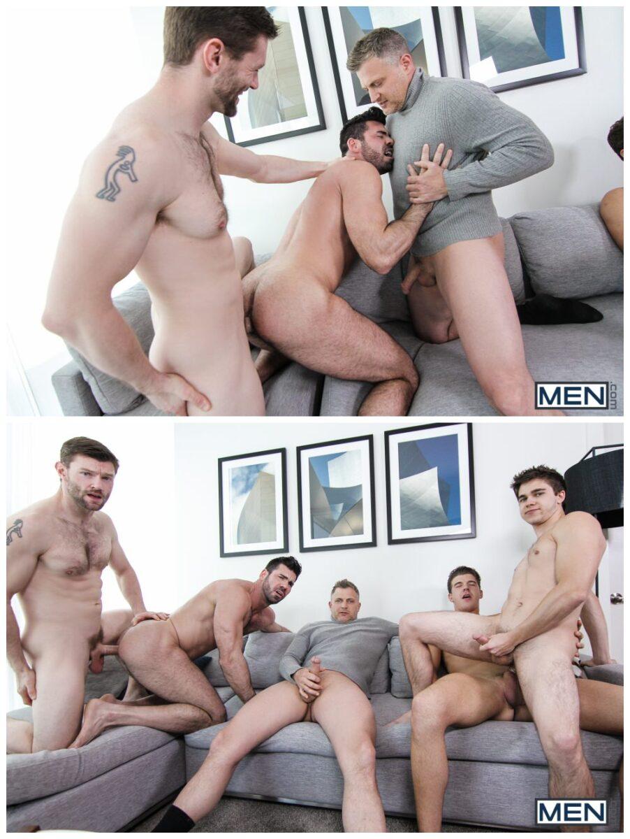 Will Braun's epic gang-bang orgy, MEN.com group sex hunks fucking, xxx free gay porn video and pics.5