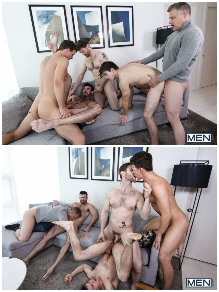 Will Braun's epic gang-bang orgy, MEN.com group sex hunks fucking, xxx free gay porn video and pics.6
