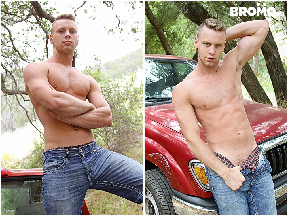 Brandon Evans gets fucked bareback outdoors, raw anal sex jocks & hunks fucking, Bromo xxx free gay porn.2