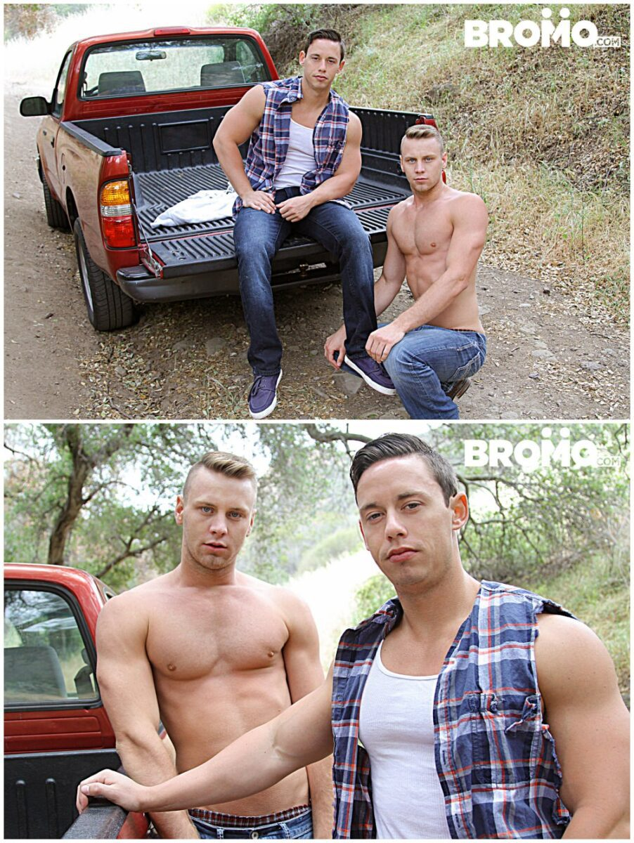 Brandon Evans gets fucked bareback outdoors, raw anal sex jocks & hunks fucking, Bromo xxx free gay porn.4