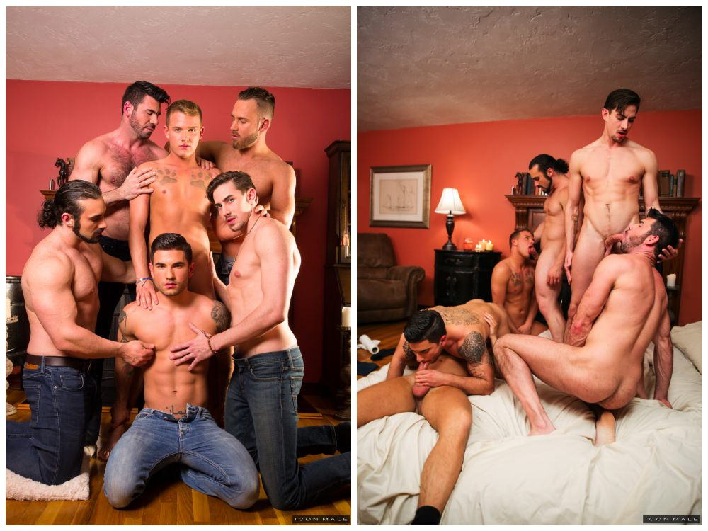 Brandon Wilde gang-bang orgy, muscle men and jocks group anal sex, Icon Male xxx free gay porn.3