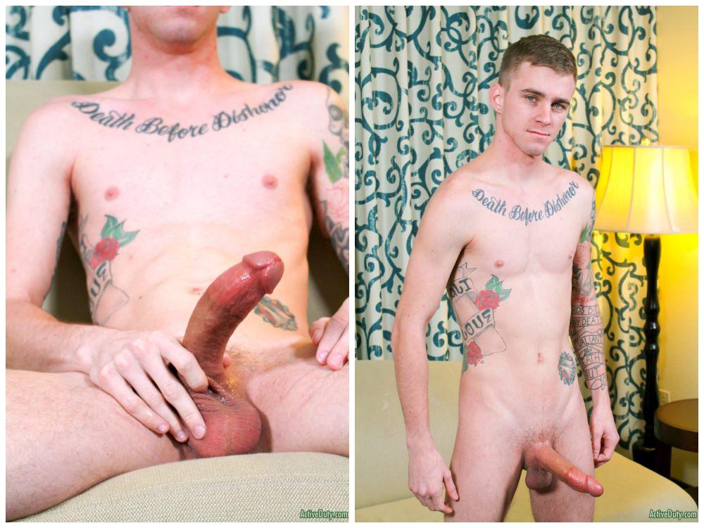 Hung inked jock Ryan Jordan jerks off, Active Duty xxx free gay porn.7