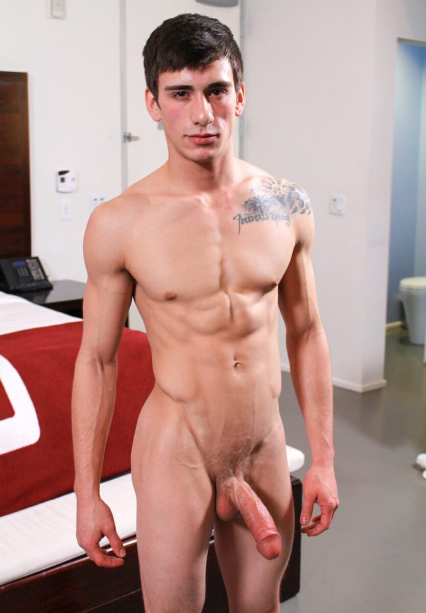 English Jock Pleasures Himself With Toy