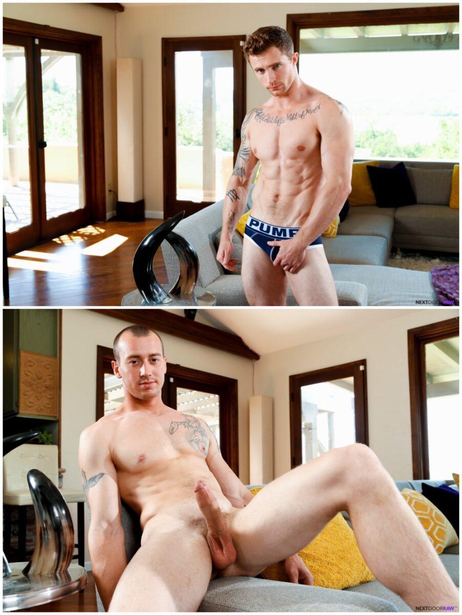 Markie More fucks Mark Long bareback, raw jocks anal sex, Next Door Raw xxx free gay porn.2