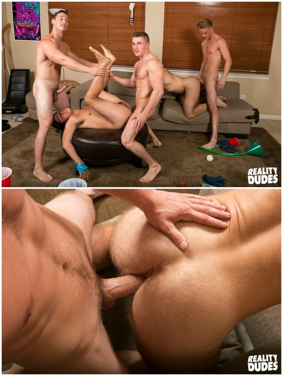 ... Dick Bareback fraternity gang bang orgy, raw anal group sex, jocks  fucking bb, ...