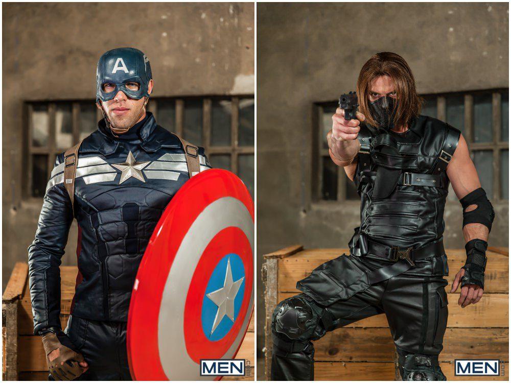 Captain America A Gay XXX Parody part 3, Paddy O'Brian fucks Alex Mecum, horny hunks anal sex, MEN.com free gay porn videos and pics.2